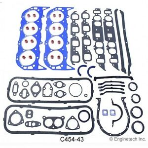 New Big Block Chevy 396 402 427 454 Complete Rebuilt Gasket Set 2pc R M Seal