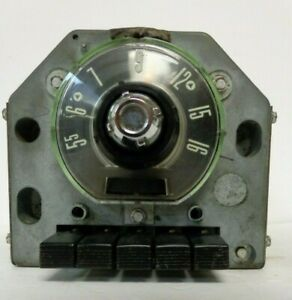 1955 Ford Car Am Push Button Radio Motorola 5mf 6 Volt Positive Ground For Parts