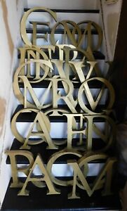 Vintage Brass Letters 12 16 Sign Business Industrial Marquee Salvage 3d Cool