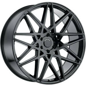 22x9 5 Black Status Griffin Wheels 6x135 30 Fits Ford Expedition