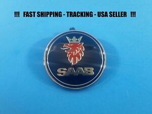 For Saab 900 9000 Front Hood Emblem Badge Bonnet Symbol Logo Part 5289871 Usa
