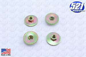 Seat Mounting Nuts 4pk 1 25 Bench Bucket Fits Charger Roadrunner Duster Mopar