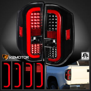 For 2014 2020 Toyota Tundra Sequential Signal Led Brake Tail Lights Jet Black