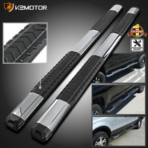 09 18 Dodge Ram Quad Cab 5 Chrome Aluminum Side Step Running Board Nerf Bars