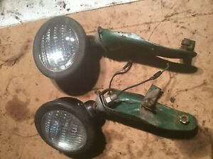 Oliver Head Lights And Mounting Bracket Tractors Good Working Condition