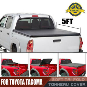 Tonneau Cover Soft Tri Fold For Toyota Tacoma Pickup Truck 5ft Pickup Bed