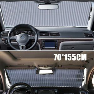 Car Retractable Curtain With Uv Protection Front Windshield Visor Auto Shade Bw7