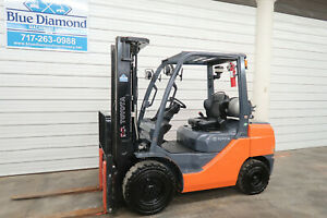 2015 Toyota 8fgu30 6 000 Pneumatic Tire Forklift Lp Gas 3 Stage Sideshift