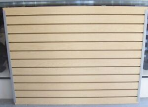 Store Fixture Supplies 35 5 X 47 Tall Sheet Slatwall Laminate Woodgrain Finish