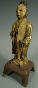 Korea Korean Gilt Lacquer Iron Buddhist Figure Joseon Dynasty Ca 14 17th C