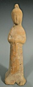 Fine China Chinese Tang Dynasty Terracotta Figure Of A Court Lady Ca 618 907 Ad
