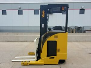 2008 Yale Nr040da Electric Reach Truck Narrow Aisle Forktruck Forklift Stand Up