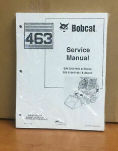 Bobcat 463 Skid Steer Service Manual Shop Repair Book Part 6901177