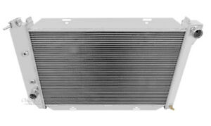 1971 1973 Ford Mustang Radiator Polished Aluminum 3 Row Champion Radiator 381