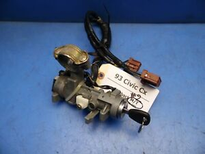 92 95 Honda Civic Eg Oem Ignition Starter Switch Cylinder W Key M t 2