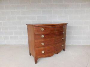 Antique Hepplewhite Mahogany 4 Drawer Bureau Chest