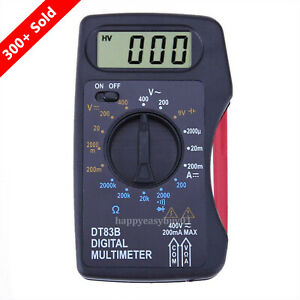 Portable Mini Lcd Digital Multimeter Pocket Ammeter Voltmeter Ohm Meter Voltage