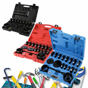 Front Wheel Bearing Press Tool Removal Adapter Puller Kit 23 Pieces 3 Colors