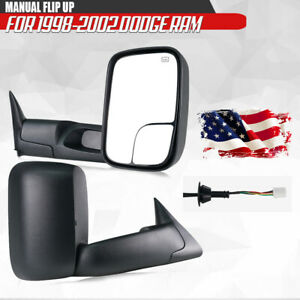 Fit 1998 2001 Dodge Ram 1500 1998 2002 2500 3500 Power Heated Towing Mirrors 2pc