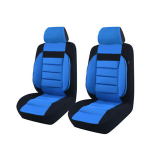 Car Pass Blue Universal Fit Front Car Seat Covers For Vehicles Car Suv Truck