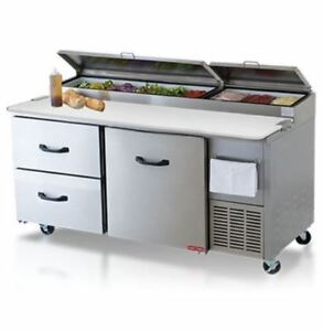 Torrey Ptp 67 2 Drawers 1 Door Refrigerated Pizza Prep Table Free Liftgate Del