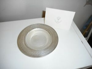 Antique Butter Dish English Silver Plate Glass Liner Numbered With Coa