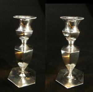 Pair Of Vintage Gorham Sterling Silver Candlesticks 5 Tall