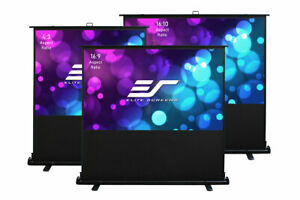 New Elite Screens Ezcinema 2 Manual Floor Pull Up Projector Screen 84 16 9