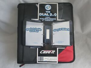 Case it Dual Ring Binder 4 Capacity Pockets Inside out 5 color Tabbed File