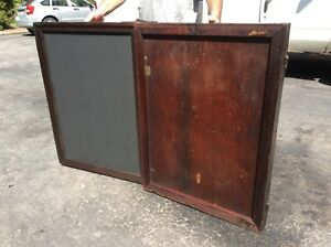Antique Wood Sign Board Chalk Post Very Old 1886 1931 Signed By Users