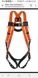 Miller By Honeywell Titan Non stretch Full Body Harness T4500 uak Sealed In Bag
