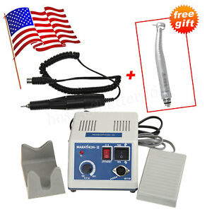 Dental Lab Marathon Micromotor 35k Rpm Handpiece Large Fiber Optic Handpiece