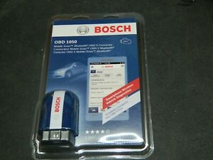 New Factory Sealed Bosch Obd 1050 Bluetooth Mobile Scan Tool Obd2 Ii Connector