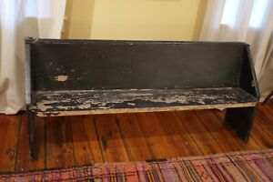 Antique Vintage Church Pew Bench Hand Planed Wrought Nails