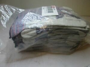 12 Pair Xtra Large Gray B c Grade Leather Palm Safety Gloves New