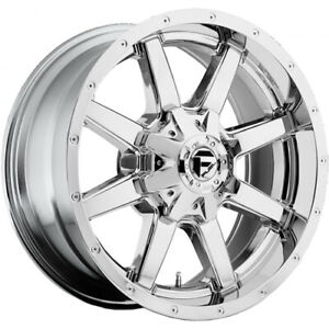 22x10 Chrome Fuel Maverick d536 Wheels 6x135 6x5 5 24 Lifted Ford Expedition