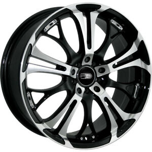 17x7 Machined Black Hd Spinout Wheels 5x100 5x4 5 40 Fits Chevrolet Cavalie