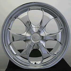 19x8 5 Chrome Adr Titan Wheels 5x120 15 Fits Bmw 740i 740li 840ci 850cc