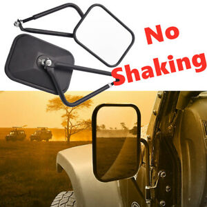 Side View Door Mirrors Set Rear View Left Right For 07 17 Jeep Wrangler Jk Cj Yj