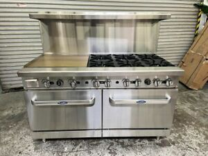Atosa Ato 24g6b 60 Cookrite Lp Gas Range 24 Griddle 6 Burners Free Lift Gate