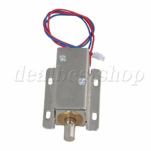 Silver Tfs a21 Cabinet Drawer Electric Bolt Assembly Solenoid Lock Latch Dc12v