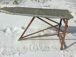 Antique Wooden Ironing Board Rustic Primitive All Wood Nice Shape