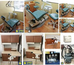 Midmark 4 Room Operatory Package 21 Piece Set Chairs Cabinets Ultraleather