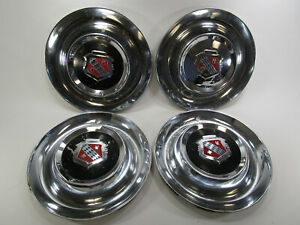 Vintage Lot Of 4 Oe Buick Hubcaps 15 Wheel Covers Chrome
