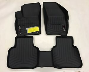 Weathertech Floorliner For Dodge Journey 2011 2017 Black 1st And 2nd Row