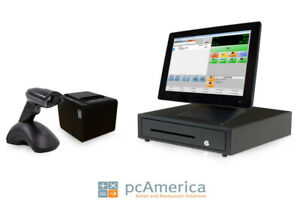 Retail Point Of Sale System cash Register Express Monthly Pos W Wireless Scanner