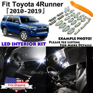 22x White Led Interior Light Package Kit For 2010 2018 2019 Toyota 4runner tool