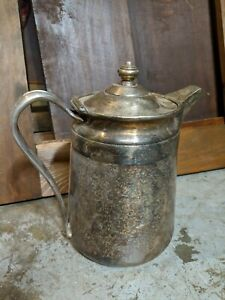 Reed Barton Silver Soldered Pitcher Marked 2858 64 Oz Sheraton Hotel