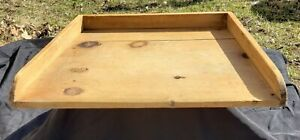 Primitive Wooden Cutting Board Gallery Sides Dough Bread Noodle Pastry Patina