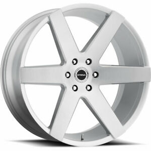 24x10 Silver Strada Coda Wheels 5x115 15 Fits Dodge Challenger Charger